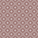White and Maroon Fleur-De-Lis Pattern Textured Fabric Background Royalty Free Stock Photo