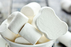 White marshmallow royalty free stock image
