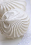 White marshmallow with a delicate lace Royalty Free Stock Photo