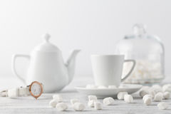 White marshmallow on table Stock Photo