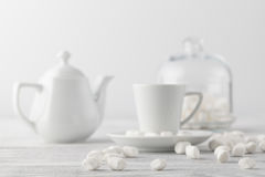 White marshmallow on table Royalty Free Stock Photos