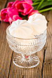 White marshmallow or zephyr dessert Royalty Free Stock Photography