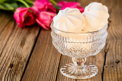 White marshmallow or zephyr dessert Royalty Free Stock Photos