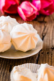 White marshmallow or zephyr dessert Stock Photography