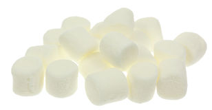 White Marshmallows Stock Images