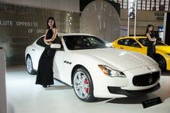 White maserati car Royalty Free Stock Images