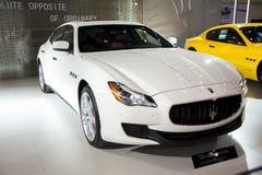 White maserati car Stock Images