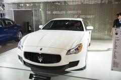 White maserati car Royalty Free Stock Photos