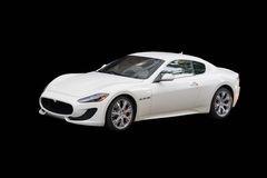 White Maserati GranTurismo Royalty Free Stock Images