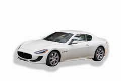 White Maserati GranTurismo Royalty Free Stock Photo