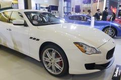 White maserati quattroporte car Stock Photography