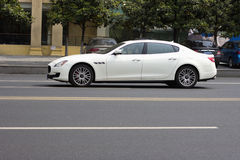 White Maserati Stock Images