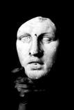 White mask. A white mask on black background Royalty Free Stock Image