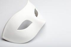 White mask. On the white stock photo