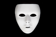 White mask. A white mask with a black background royalty free stock image