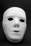 White mask. A white mask on a black background Royalty Free Stock Photos
