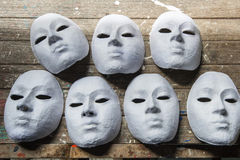 White mask actor Royalty Free Stock Photography