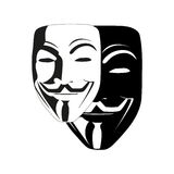 White mask anonymous vector. White isolated mask of anonymous vector illustration Royalty Free Stock Photography