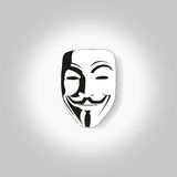 White mask anonymous vector Stock Photos