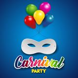 White Mask With Balloons Royalty Free Stock Photography