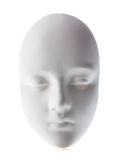 White mask close-up isolated on white background. Royalty Free Stock Photos