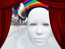 White mask with rainbow Royalty Free Stock Photography