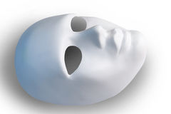 White mask,saved path Royalty Free Stock Image