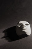 White mask shadow black background vertical Royalty Free Stock Image