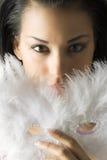 White mask strong eyes stock images