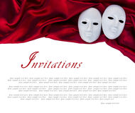 White masks Royalty Free Stock Photo