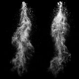 White mass. On a black background Stock Image