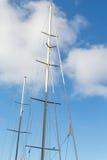 White Mast on Blu Stock Images