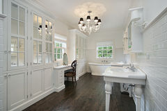 White master bath Stock Photo