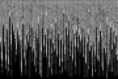 White matrix background computer generated Royalty Free Stock Photos