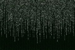 White matrix on the background of green binary code Royalty Free Stock Photos
