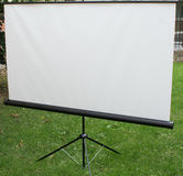 White matt tripod screen Royalty Free Stock Images