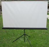 White matt tripod screen Royalty Free Stock Photo