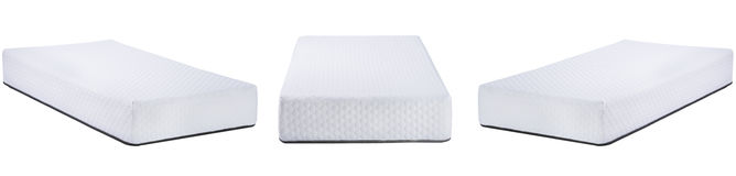 White mattress with a pattern isolated on white Royalty Free Stock Photos