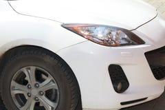 White mazda details Stock Photo