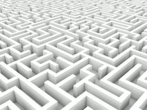White maze Royalty Free Stock Images
