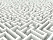 White maze Royalty Free Stock Images