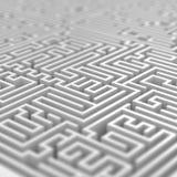 White Maze Royalty Free Stock Image