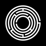 White maze symbol Stock Images