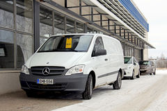 White MB Vito Van at Hertz Car Rental Stock Images