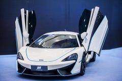 White Mclaren sports car stock photography