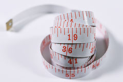 White measure tape Royalty Free Stock Images