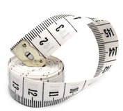 White measuring tape Stock Photos