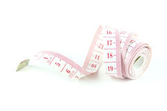 White measuring tape Stock Photo