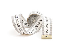 White measuring tape Stock Photography
