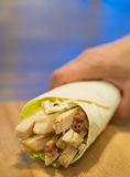 White meat chicken Wrap Stock Photography